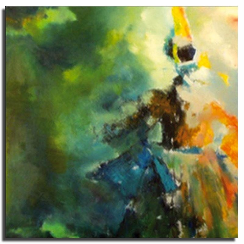 La Bigoudène et son ombre Huile sur toile 70x70cm (Réservé)