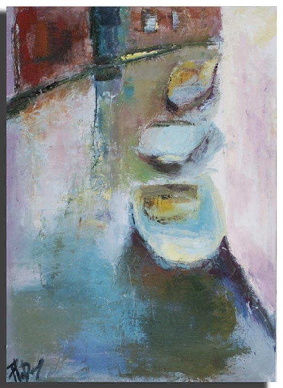 Canal Huile sur toile 40cm x 60cm, encadré (Disponible)