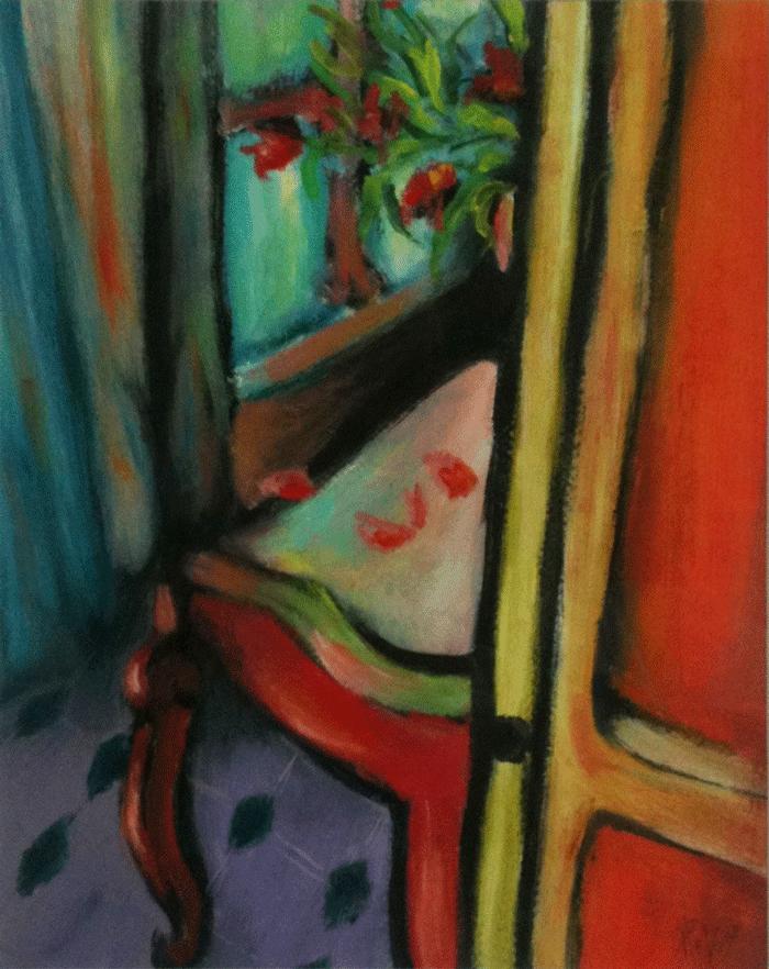 Chambre Huile sur toile 30cm x 60cm (Reservé)