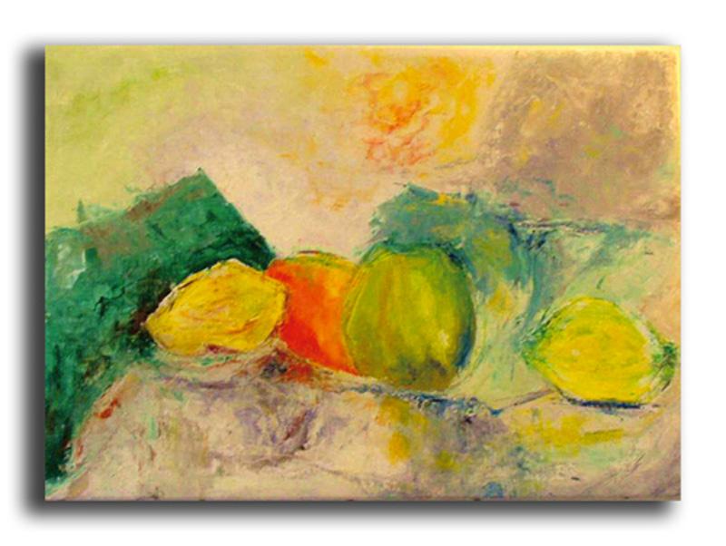 Faim Huile sur toile 50 x 70 cm, encadré (Disponible)