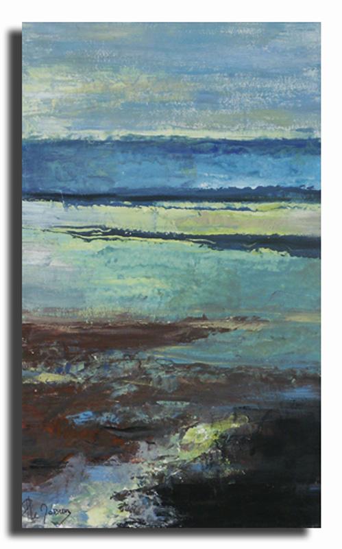 Horizon 3 Huile sur toile 30cm x 60cm (Réservé)