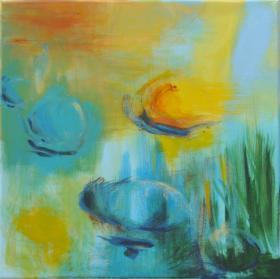 jeux d eau - A-Peinture acrylique