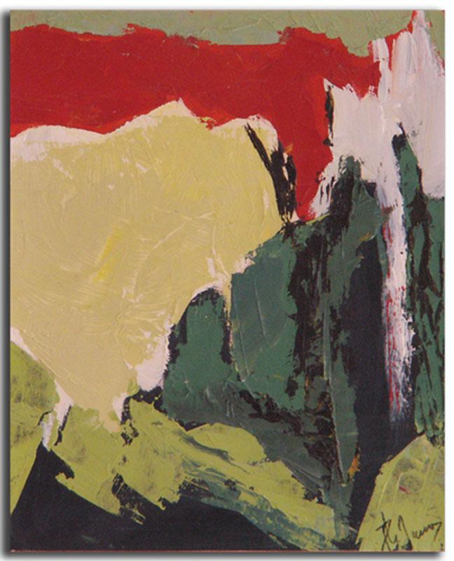 Ocre 6 Huile sur toile 15cm x 22cm, encadré (Réservé)
