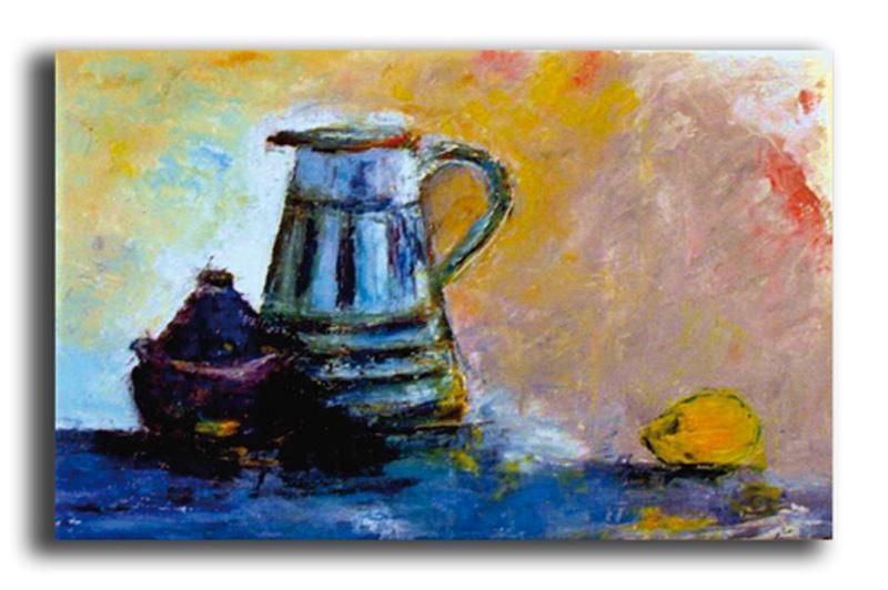 Soif Huile sur toile 50 x 70 cm, encadré (Disponible)