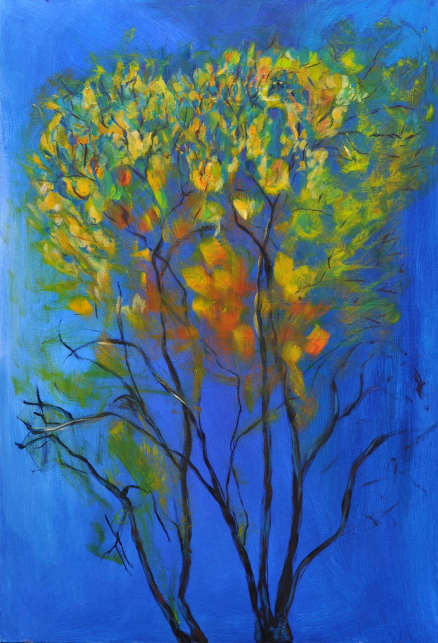 Feu Acrylique sur toile 90cm x 130cm (Disponible)