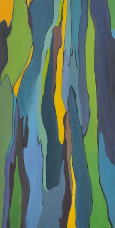 Flux Acrylique sur isorel 40cm x 80cm (Disponible)
