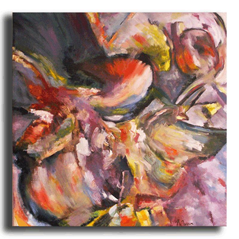 Hortensias Huile sur toile 70x70cm (Réservé)
