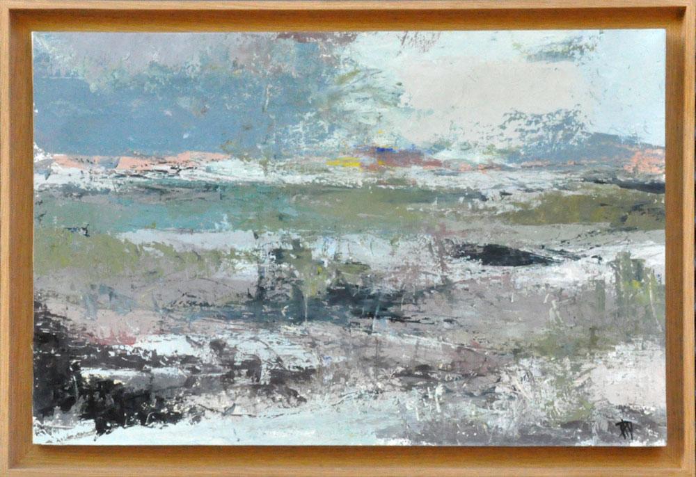 Lagune Huile sur toile 31cm x 56 cm (Disponible)