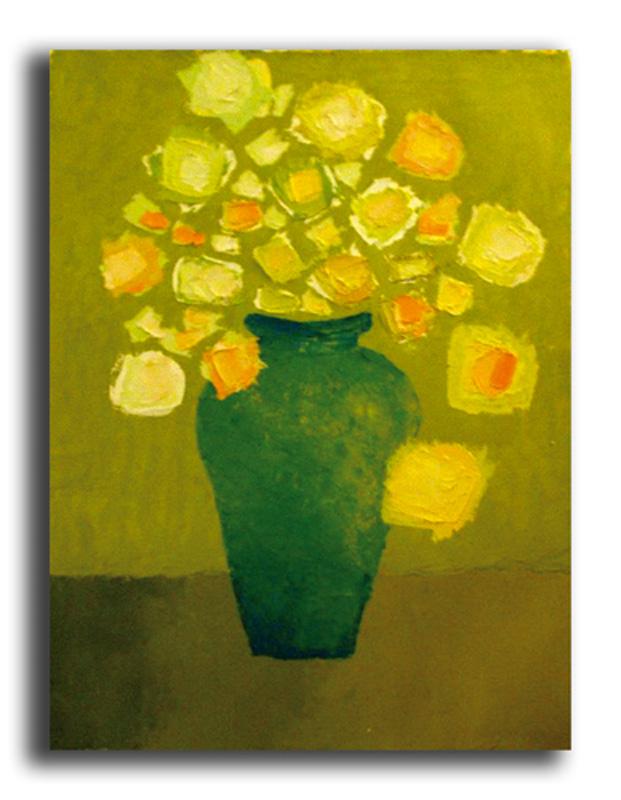 Ma mère Huile sur toile 50 x 70 cm, encadré (Réservé)