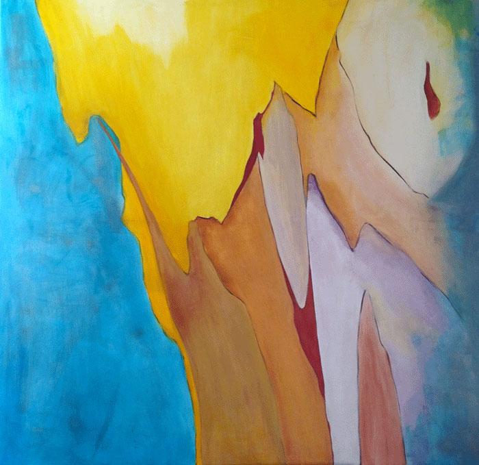Mexique Acrylique sur toile 145cm x 145cm (Réservé)