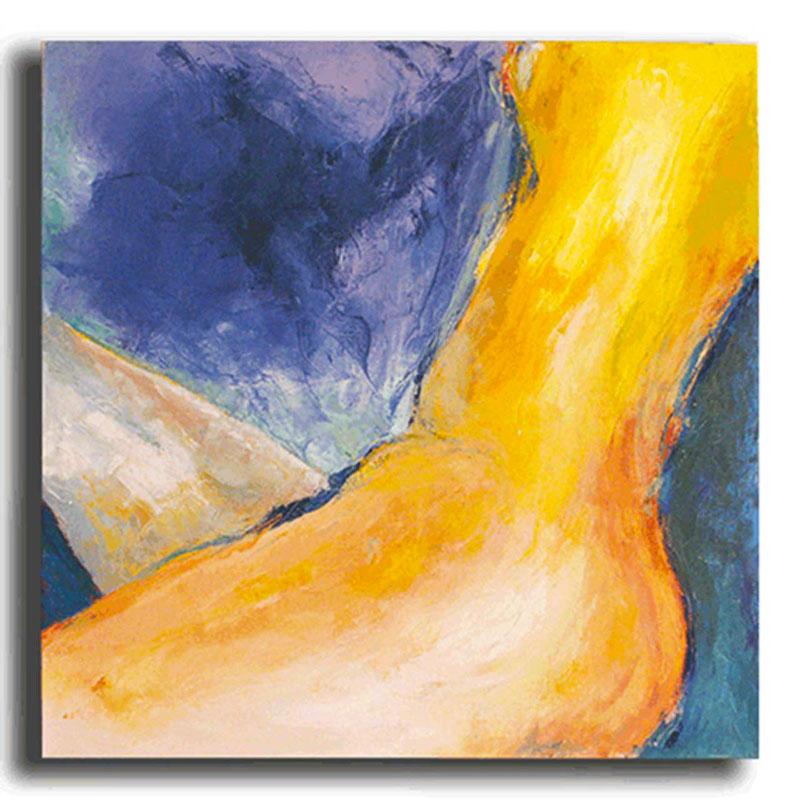 Nu bleu Huile sur toile 80 x 80 cm, encadré (Disponible)