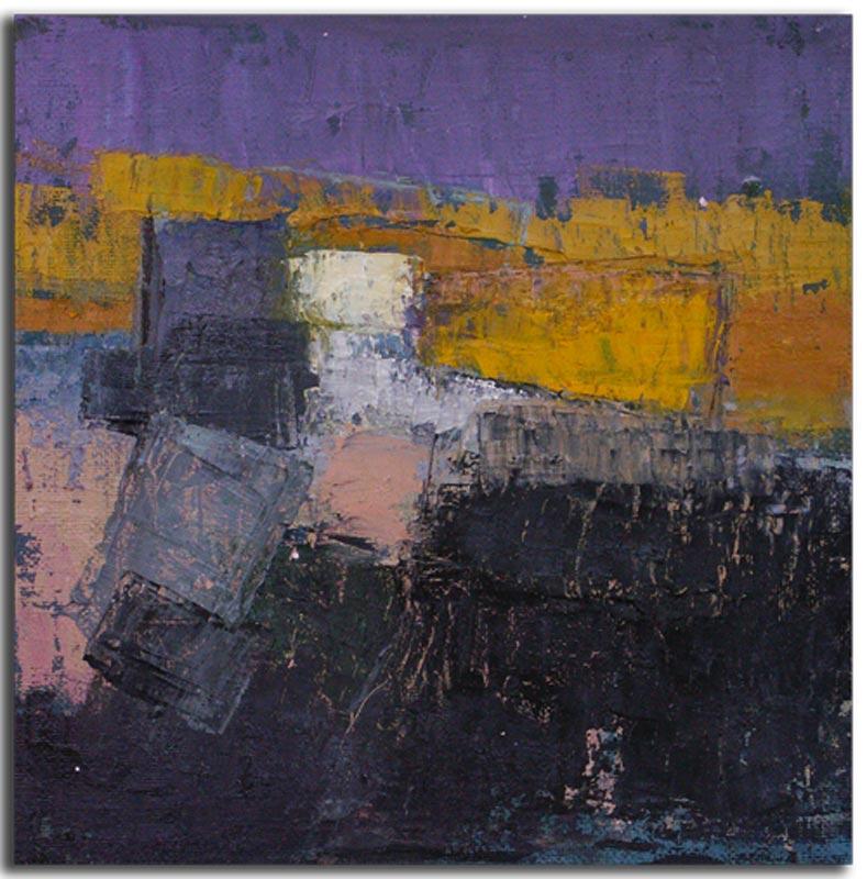 Nuit à Venise Huile sur toile 20cm x 20cm (Disponible)