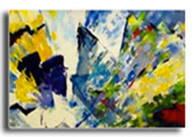Papillons Huile sur toile 120 x 100 cm (Réservé)