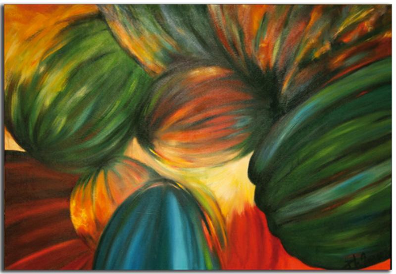 Pastèques Huile sur toile 120 x 100 cm (Réservé)