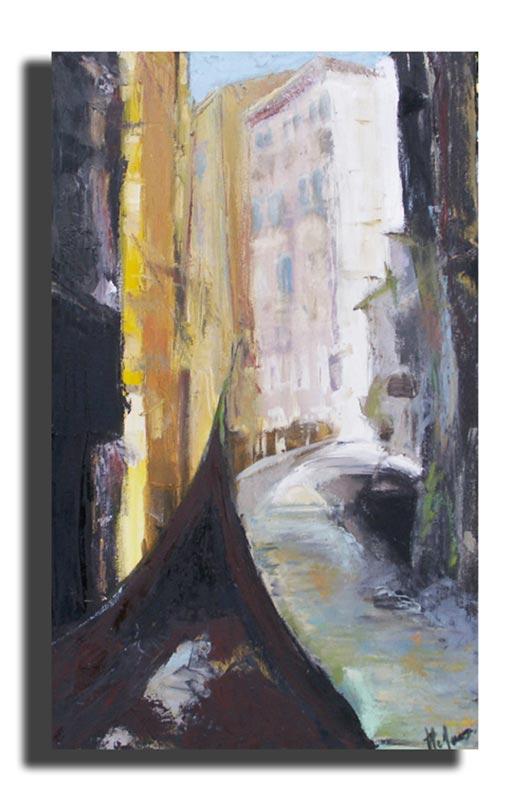 Promenade Huile sur toile 40cm x 60cm, encadré (Disponible)