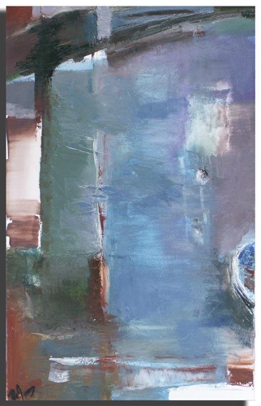 Reflet Huile sur toile 40cm x 60cm, encadré (Disponible)