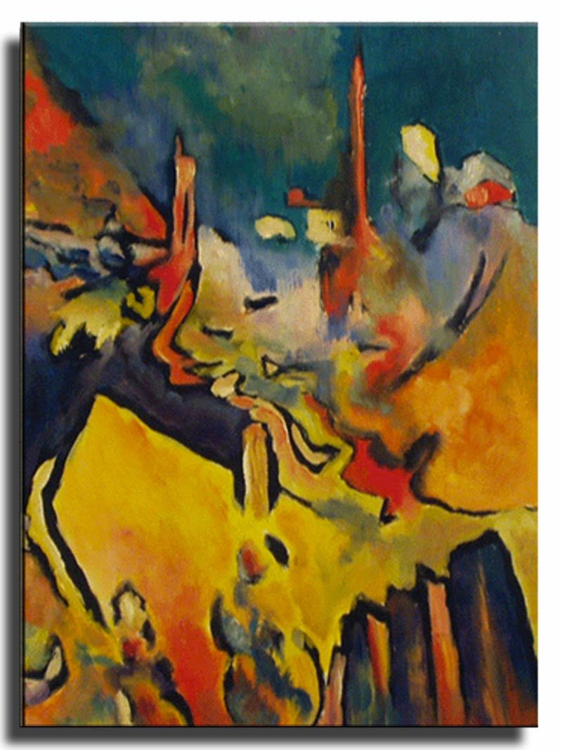Vue de Benodet le soir Huile sur papier 50 x 70 cm, encadré (Réservé)