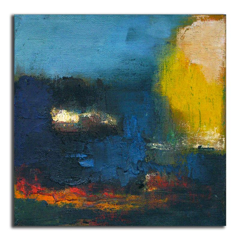 Soleil Huile sur toile 20cm x 20cm (Réservé)