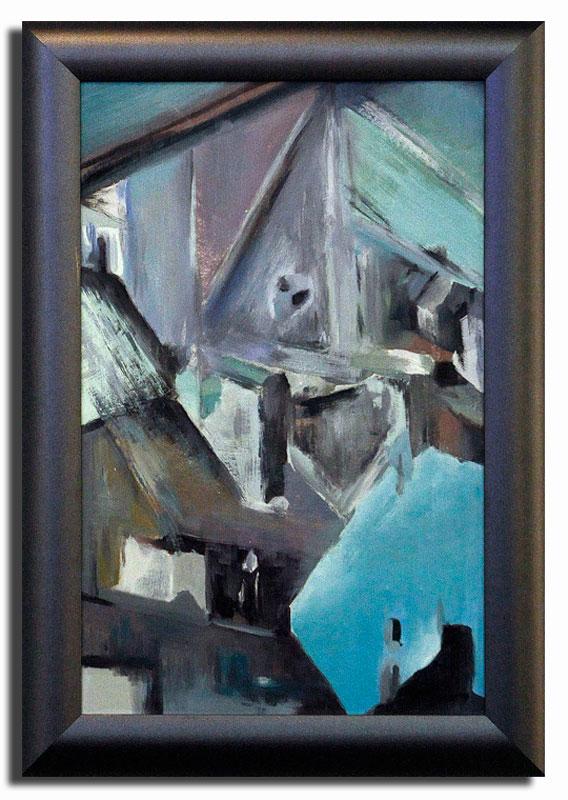 Paris Huile sur toile 30cm x 40cm, encadré (Disponible)