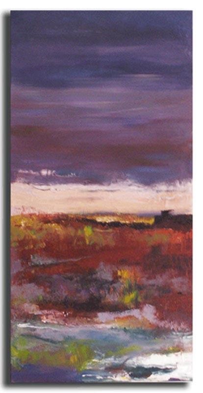 Horizon Huile sur toile 30cm x 70cm, encadré (Disponible)