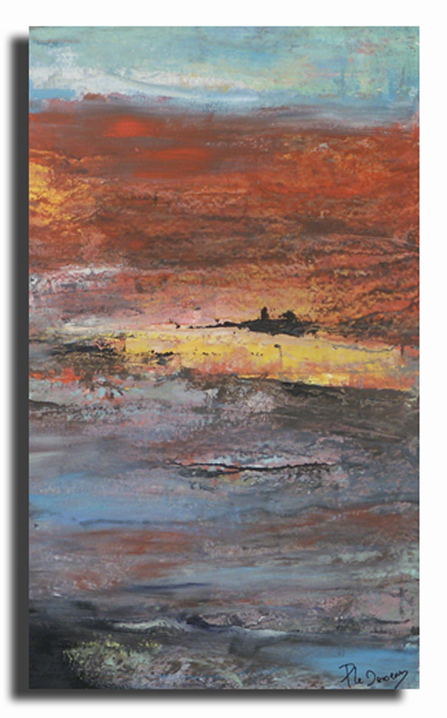 Horizon 2 Huile sur toile 30cm x 60cm (Réservé)