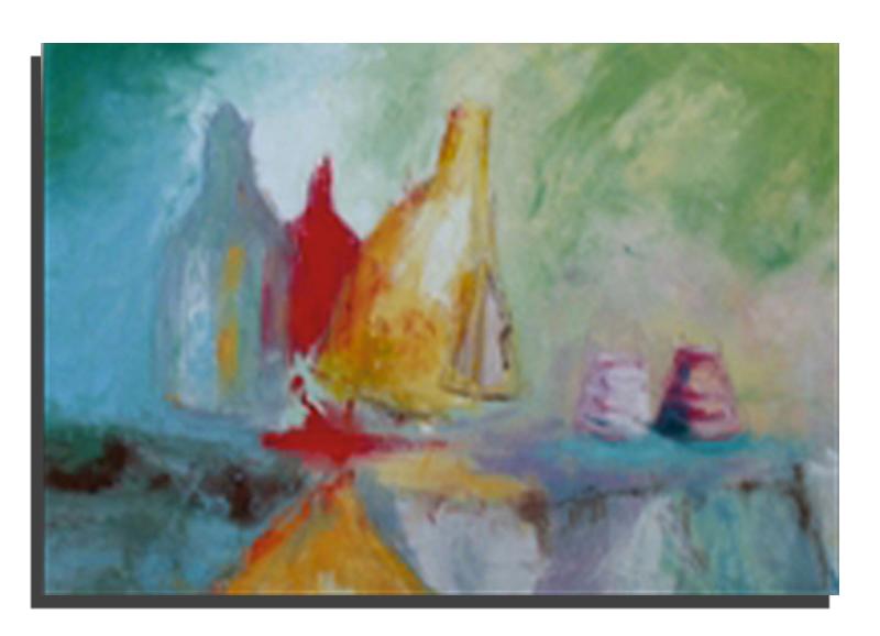 Ivresse Huile sur toile 50 x 70 cm, encadré (Réservé)