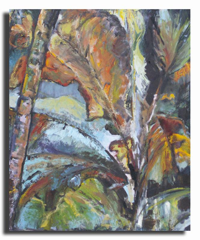 Jungle Huile sur toile 40cm x 60cm (Disponible)
