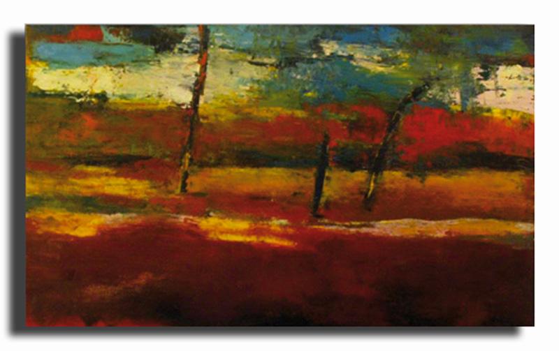 Sous-bois Huile sur toile 50cm x 70cm (Disponible)