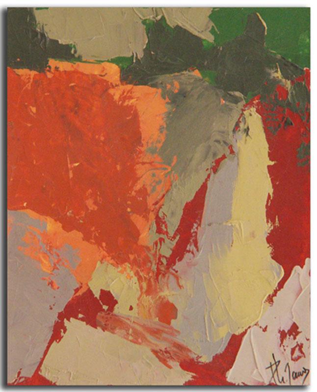 Ocre 1 Huile sur toile 15cm x 22cm, encadré (Réservé)