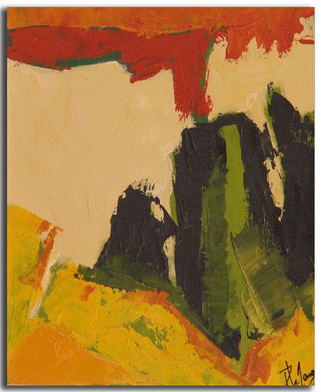Ocre 3 Huile sur toile 15cm x 22cm, encadré (Réservé)