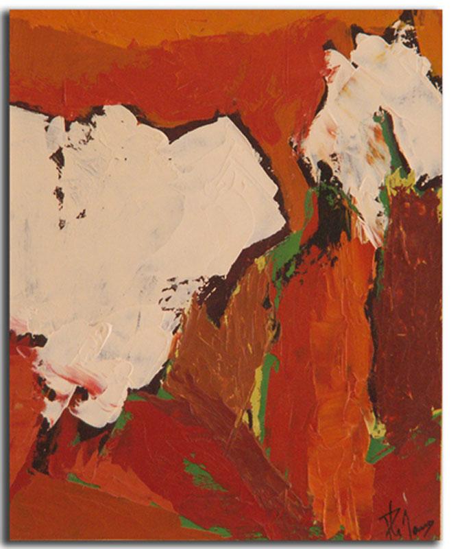 Ocre 4 Huile sur toile 15cm x 22cm, encadré (Réservé)
