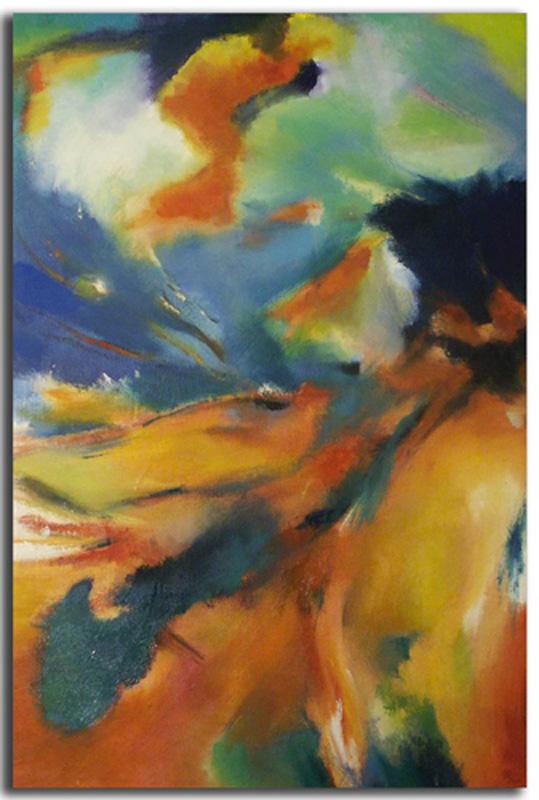Ombre et lumière Huile sur toile 50cm x 70cm (Disponible)