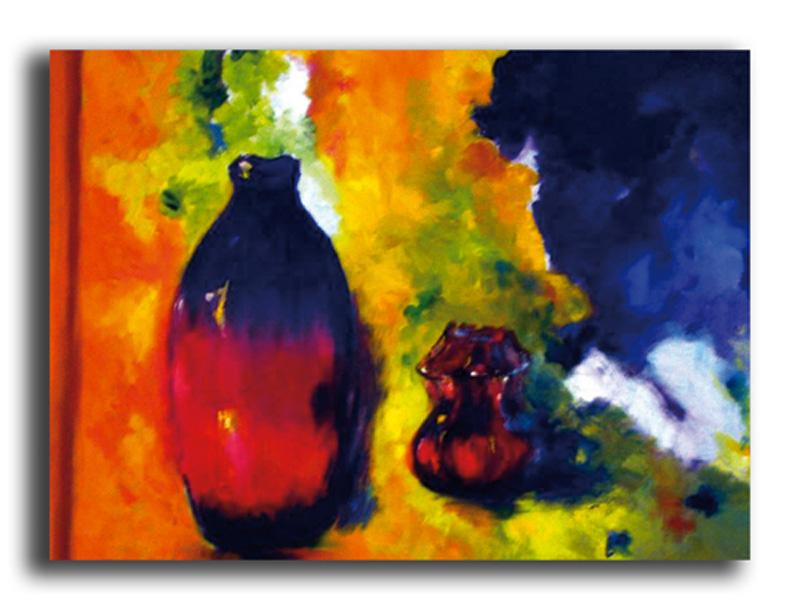 Pots Huile sur toile 50 x 70 cm, encadré  (Disponible)