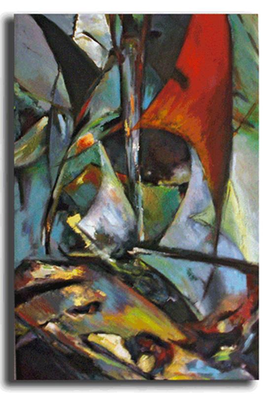 Voiles Huile sur toile 40cm x 60cm (Réservé)